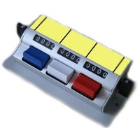 Tally Counter Aluminium (D3b) DeskTop 3 bank 4 digit Laboratory