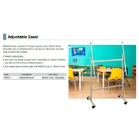 Mobile Easel Adjustable for larger boards up to 20mm thick 1200x900 to 2400x1200mm Visionchart