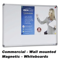 Whiteboard  450x600 Magnetic Commercial Aluminium Trim VB6045 Communicate