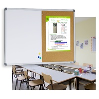 Combi Whiteboard and Corkboard 900x1200mm Singled sided 1/2 magnetic whiteboard VCB1290 Extra freight for country applies