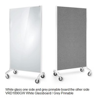 Room Dividers Glassboard + Pinboard 900x1800 White glass Grey Pinnable other side