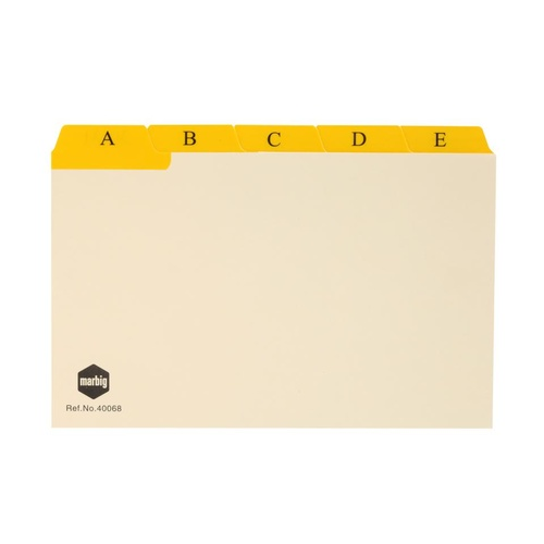 8x5 A-Z + 1-31 dividers Card box Manilla Marbig 40068 - set 30
