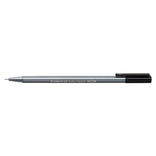 Pens Staedtler 334 Triplus Fineliner 0.3mm Black Box 10