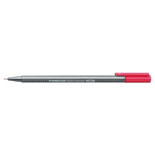 Pens Staedtler 334 Triplus Fineliner 0.3mm Red Box 10