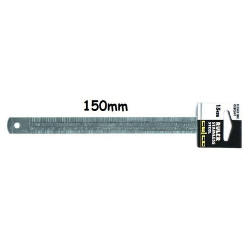 Ruler 150mm Steel 0180594 - each
